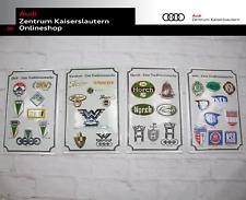 Audi Blechschilder Set bestehend aus vier Schildern von NSU DKW Wanderer Horch