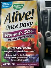 Nature's Way Alive Once Daily Women's 50+ Ultra Potency 60 Tablets Exp 6/2022