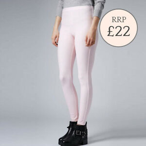 Topshop Pink White Check Gingham Leggings Trousers Sizes  6 8 10 12 RRP £22