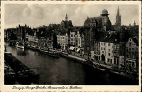 Danzig Gdańsk Polen Pommern ~1930/40 Lange Brücke Sternwarte Rathaus ungelaufen