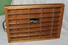 Vintage Wooden Printer Drawer Style Shadow Box 35 Spots 16 3/4 X 11 1/4""