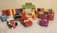 LEGO Duplo Disney Pixar Cars Lot of 7 Vehicles Maters Shed And 43 Extra Blocks