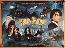 Harry Potter - Original Cinema Quad Poster - Hand Signed By the Cast - 2001