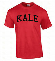 KALE Men's T-SHIRT Vegetarian Black Logo Organic Vegan Tee Birthday Gift Shirt