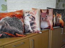 Deko Kissen mit Fuellung 40 cm Print 3 Katzen Motiv Beach Bums KA060 weiß