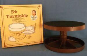 VINTAGE MARY FORD 5 CAKE TURNTABLE CAKE BAKING DECORATE DISPLAY ORIGINAL BOX