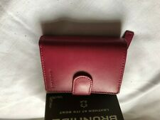 Brunhide Genuine Soft Leather Purse Pink Fuschia 204-300 RFID New and Boxed