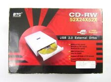 NEW BTC CD-RW 52X24X52X HIGH SPEED USB 2.0 EXTERNAL DRIVE