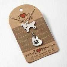 Golden Retriever Necklace & Dog Charm Set