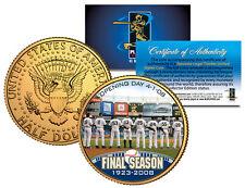 YANKEE STADIUM FINAL SEASON 2008 JFK Half Dollar Gold Plated US Coin DEREK JETER