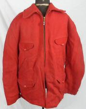 Vintage Red Virgin Wool Hunting Jacket Mens Size XL Coat Sault Ste Marie MI Old