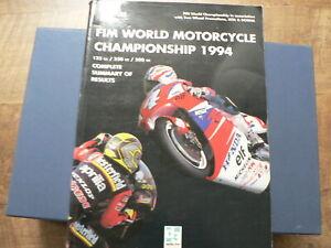 FIM WORLD MOTORCYCLE CHAMPIONSHIP 1994 COMPLETE SUMMARY RESULTS DOOHAN,SCHWANTZ
