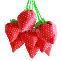 Convenient Strawberry Collapsible  Reusable Shopping Storage Reticule Bag HC