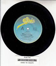 "GEORGE MICHAEL  Faith  7"" 45 rpm vinyl record + juke box title strip"