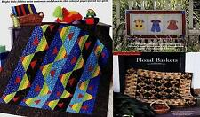 Fish Tales & Dolly Dresses & Floral Baskets  Quilt     pattern only