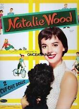 Vintage Uncut 1957 Natalie Wood Paper Dolls~#1 Reproduction~Nostalgic Pretty Set
