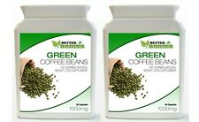 2 x 60 GREEN COFFEE BEAN 1000MG EXTRACT CAPS PILL  DIET WEIGHT LOSS SUPPLEMENT