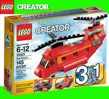 LEGO CREATOR 31003 Roter Helikopter Red Rotors 3 Modelle Propellermaschine BINSB