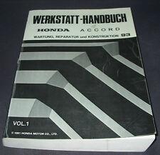 Werkstatthandbuch Honda Accord Wartung Reparatur Konstruktion ab 1993
