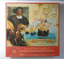Factory Sealed MB 1993 HISTORIC VOYAGE OF CHRISTOPHER COLUMBUS 500 Piece PUZZLE