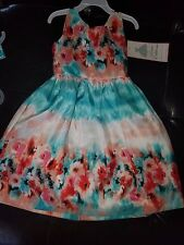 GIRL DRESS RARE EDITIONS NWT 5 MACY'S SPRING SUMMER FLORAL $74