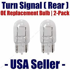Rear Turn Signal/Blinker Light Bulb 2-pack Fits Listed Toyota Vehicles - 7440