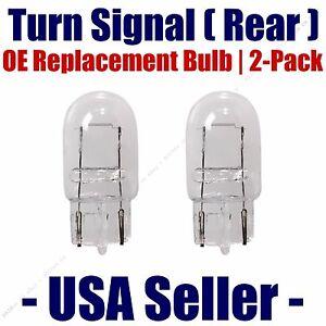 Rear Turn Signal/Blinker Light Bulb 2-pack Fits Listed Isuzu Vehicles - 7440