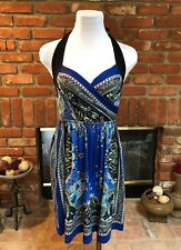 ARDEN B.Paisley Festival CHIC Vibrant Pocketed Sexy Halter Dress sz S