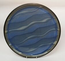 DENBY    BLUE  JETTY  'WATER'  ROUND  PLATTER