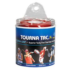 Tourna Tac 30 Pack Tennis Badminton XL Overgrip - Blue - Travel Pouch - Wet Feel