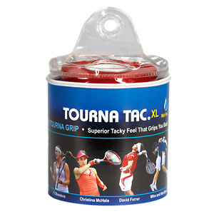 Tourna TAC Tennis Badminton XL Overgrip - 30 Pack Travel Pouch - Blue - Wet Feel