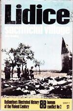 LIDICE SACRIFICIAL VILLAGE, BRADLEY, BALLANTINE HUMAN CONFLICT NO 2, UNREAD BOOK