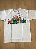 "Moschino X Jeremy Scott Nintendo "" Super "" Mario & Freunde T-Shirt Größe M"