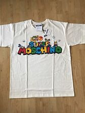 "MOSCHINO X Jeremy Scott X Nintendo ""Super MOSCHINO"" MARIO & FRIENDS T-Shirt Sz M"