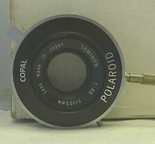 Polaroid Copal Shutter with Tominon 1:4.5 F=105mm Lens - TESTED