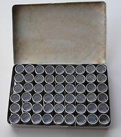 Coffret de rangement en bois avec 36 boîtes alu pour pièces perles...