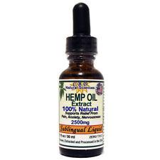 Hemp OIL 100% Natural Pain Relief 2500 mg 1 oz / 30 ml, Zero THC $29.50