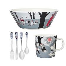 Moomin Porcelain Mug, Bowl & Cutlery - Adventure Move - Childrens Set Brand New
