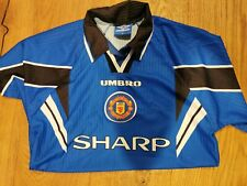 Retro MANCHESTER UNITED 1996/1997 AWAY FOOTBALL SHIRT UMBRO SHARP SIZE M