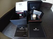 ALL PAPERS BOX TAG HEUER WJF1153  Steel 18K Gold Diamond Mother Pearl NEW $3K