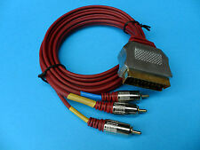 SCART to 3 RCA Plugs Lead Cord Cable 1.5m with Gold plated connectors Hi Fi