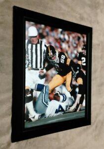 Jack Lambert Pittsburgh Steelers 8x10 Framed Photo Super Bowl X Crushes Newhouse