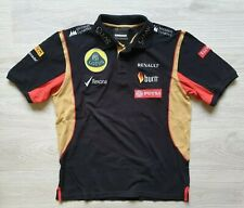 Men Team Lotus Black Polo Shirt F1 Racing Team Motorsport Formula One Uniform L