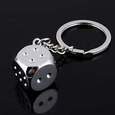 Creative Dice Keychain Key Chain Ring Key Fob Gambling Props Keyring Key Holder