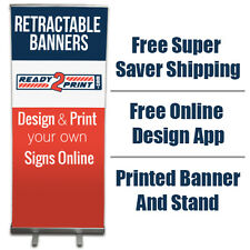"""Custom Printed Retractable Banner (33"""" x 86"""")  - FREE SHIPPING"""
