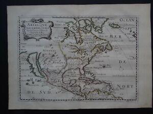 1662 SANSON Atlas map Americque Septentrionale - North America California island