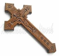 Exclusive Handmade Wooden Wall Cross Crucifix with *JESUS CHRIST*