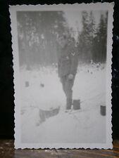 Photo argentique guerre 39 45 soldat Allemand wehrmacht WWII 2 pause dans forêt