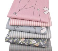 Floral Cotton Fabric Style Fat Quarter Twill Cloth Sewing Quilting Material 6pcs