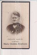 Oud doodsprentje DP M.C.Rombauts Dokter Van den Broeck Heist-op-den-Berg 1932